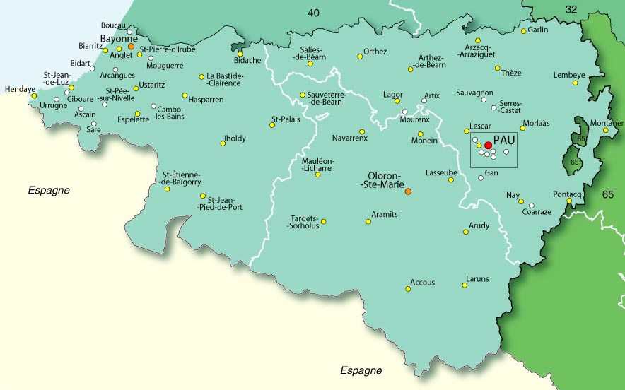 64 pyr n es atlantiques plan - Office du tourisme pyrenees atlantiques ...