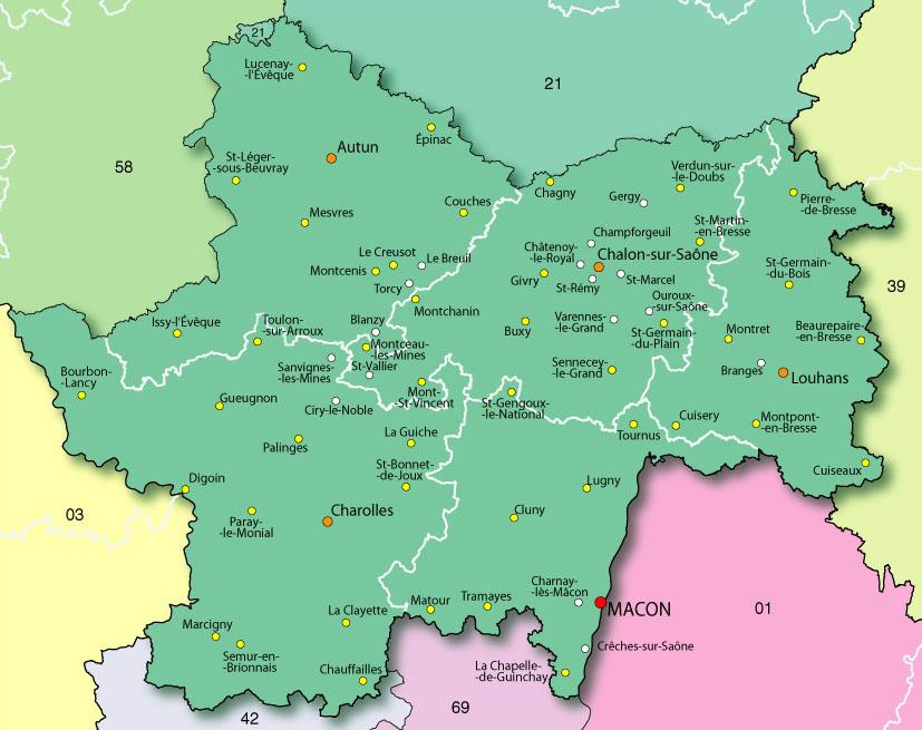 villes-sud-saone-et-loire-carte