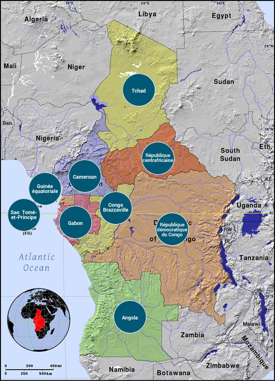 Afrique centrale - Veilles Twitter et Web des ambassades de France par Semaine52.com