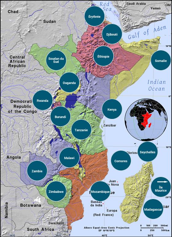 Afrique de l'Est - Veilles Twitter et Web des ambassades de France par Semaine52.com