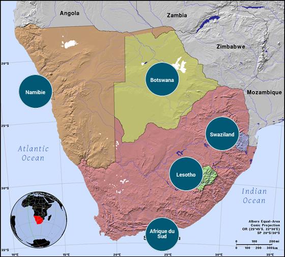 Afrique australe - Veilles Twitter et Web des ambassades de France par Semaine52.com