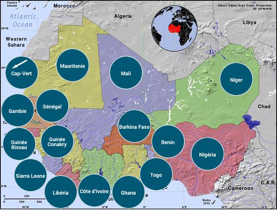 Afrique de l'Ouest - Veilles Twitter et Web des ambassades de France par Semaine52.com