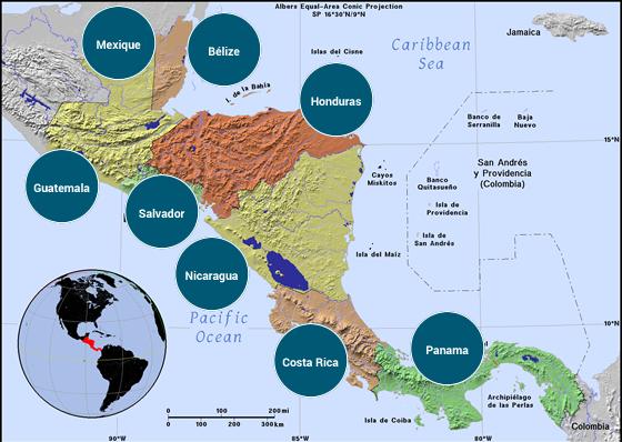 Amérique centrale - Veilles Twitter et Web des ambassades de France par Semaine52.com