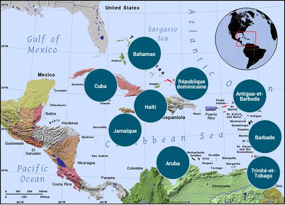 Amérique latine et Caraïbes - Veilles Twitter et Web des ambassades de France par Semaine52.com