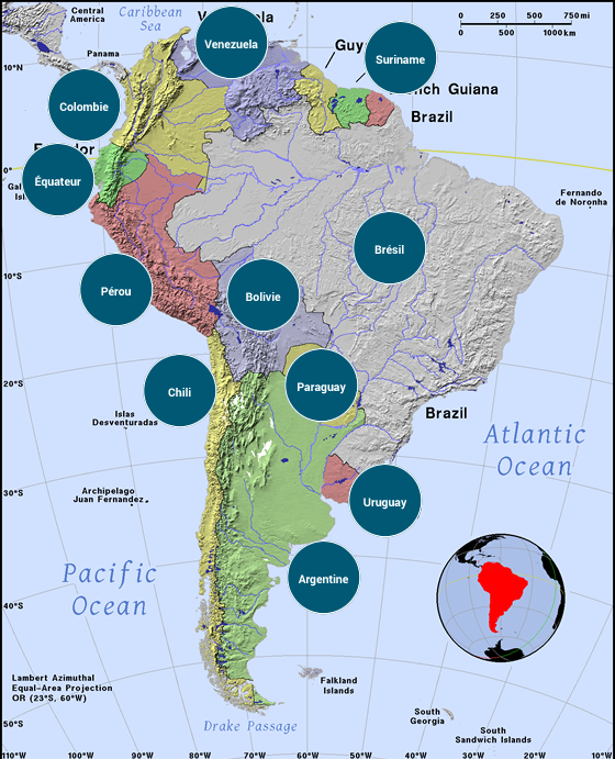 Amérique du Sud - Veilles Twitter et Web des ambassades de France par Semaine52.com