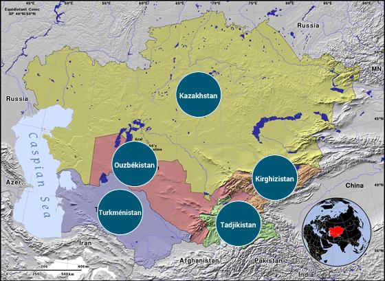Asie centrale - Veilles Twitter et Web des ambassades de France par Semaine52.com