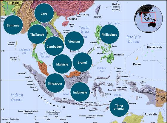 Asie du Sud-Est - Veilles Twitter et Web des ambassades de France par Semaine52.com