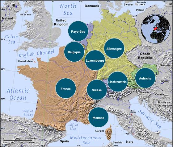 Europe de l'Ouest - Veilles Twitter et Web des ambassades de France par Semaine52.com