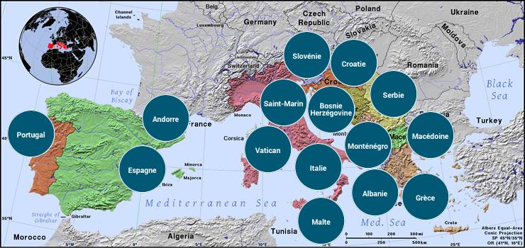 Europe du Sud - Veilles Twitter et Web des ambassades de France par Semaine52.com
